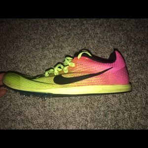 nike neon track spikes!
